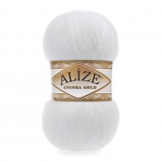 Farbe 55 weiß - Alize Angora Gold Uni 100g