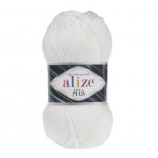 Farbe 1055 weiß - ALIZE Diva Plus Microfaser 100g