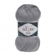 !NEU! Farbe 87 mittelgrau - ALIZE Diva Plus Microfaser 100g