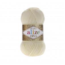 Farbe 01 creme - ALIZE Diva Uni Microfaser 100g