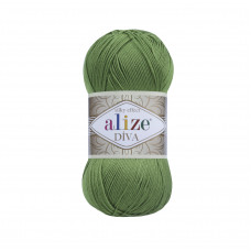 Farbe 210 grün - ALIZE Diva Uni Microfaser 100g