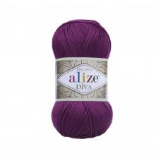 Farbe 297 pflaume - ALIZE Diva Uni Microfaser 100g