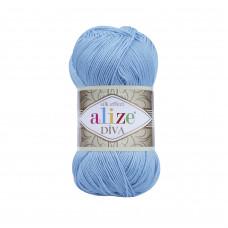 Farbe 346 hellblau - ALIZE Diva Uni Microfaser 100g