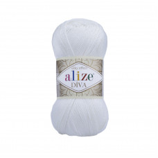 Farbe 55 weiss - ALIZE Diva Uni Microfaser 100g
