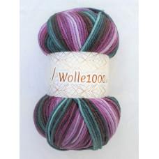 !NEU! Wolle1000 - Batik 200g - Farbe 41 flieder-petrol