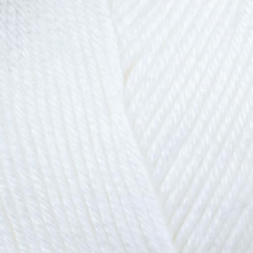 Farbe 52910 weiß - Mercan Uni Microfaserwolle 100g