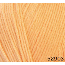 Farbe 52903 hellorange - Mercan Uni Microfaserwolle 100g