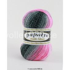555-21 - Papatya Batik Silver - weiß-grau-rosa 100g