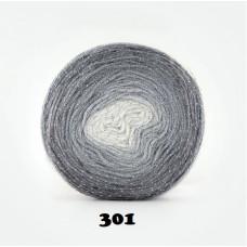 Farbe 301 - Papatya CAKE Silver- 150g (grautöne+Silberfaden)